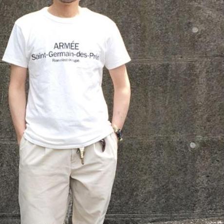 SHORT SLEEVE TEE SHIRT with ARMEE Saint-Germain  PRINT OFF WHITE COLOUR