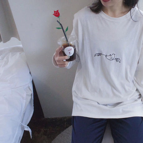 """Do Not Disturb""LongSleeve Tee (white)"