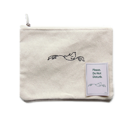 """Do Not Disturb""Flat Pouch"