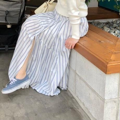 スカート(ホワイト×ブルー)