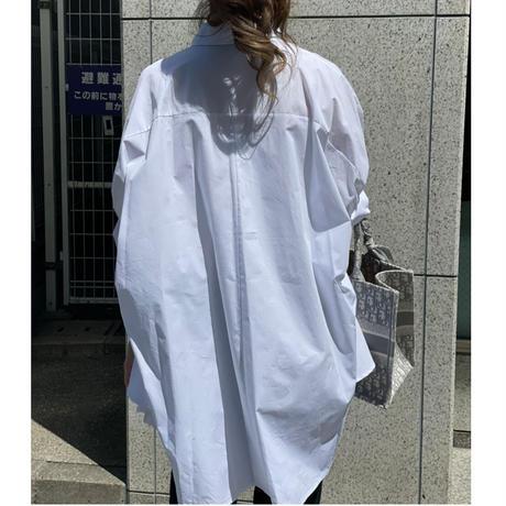 ドルマンスリーブデザインシャツ(ホワイト)