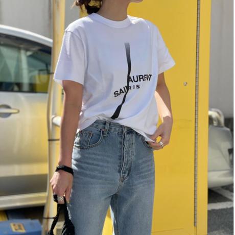 【S サイズ】2サイズ展開ユニセックスパロディSL Tシャツ(ホワイト)