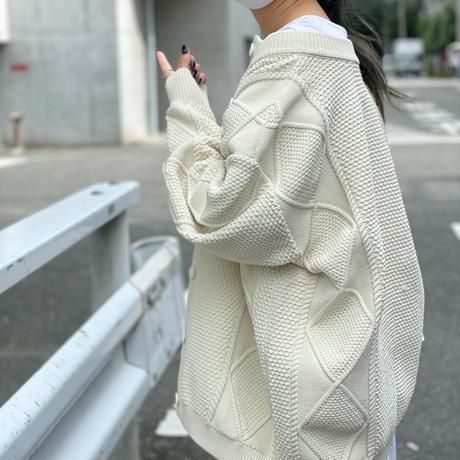 2way柄編みニット(オフホワイト)