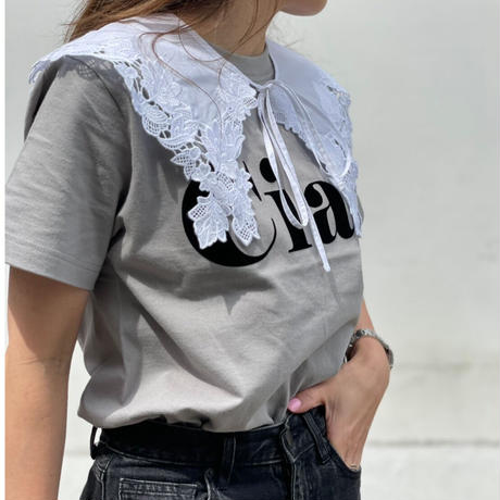 フロッキーCiao ロゴ tシャツ(グレー)