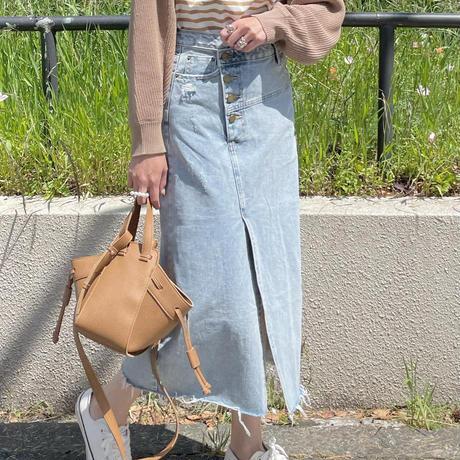 ラップデニムデザインスカート(Mサイズ)