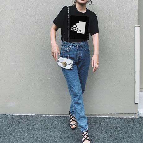 ユニセックスパロディー tシャツ(adior)ブラック
