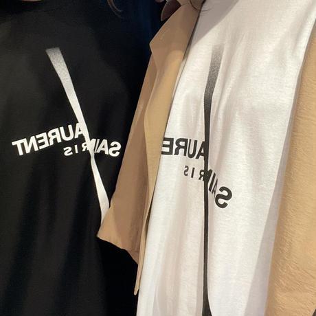 【S サイズ】 2サイズ展開ユニセックスパロディSL Tシャツ(ブラック)