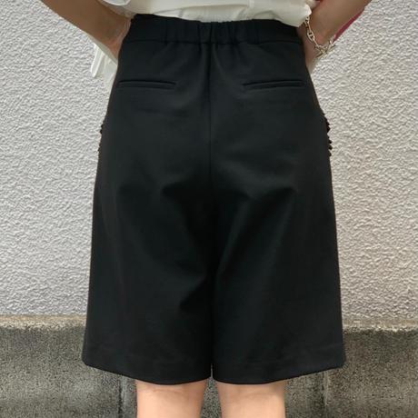 フリルポケットショートパンツ  (ブラック)