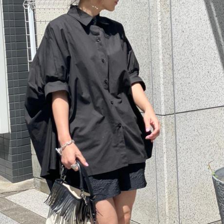ドルマンスリーブデザインシャツ(ブラック)