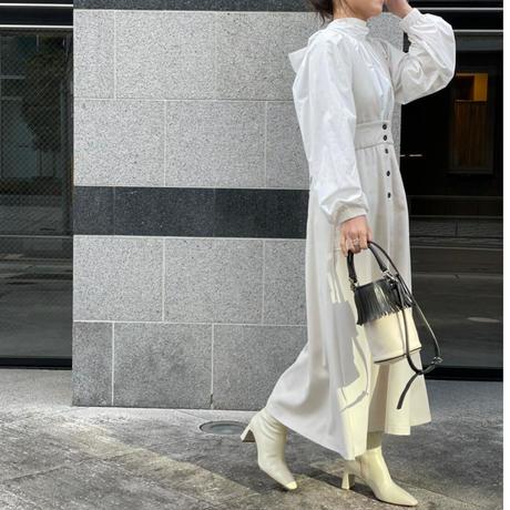 リネンライクジャンパースカート(アイボリー)