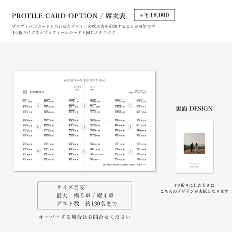 PROFILE CARD No.1 / 6 piece