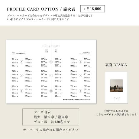 PROFILE CARD No.2 / 4 piece
