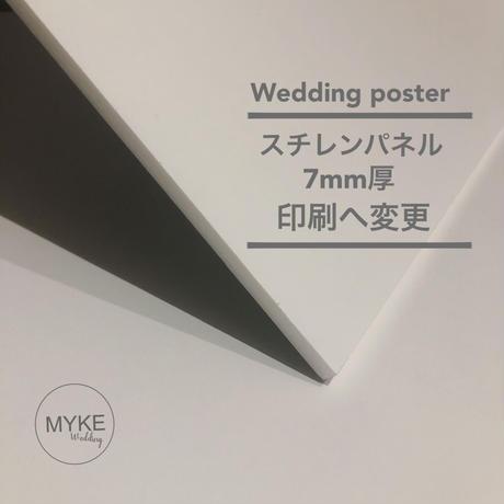 【オプション】ポスター製品➡︎パネルへ変更