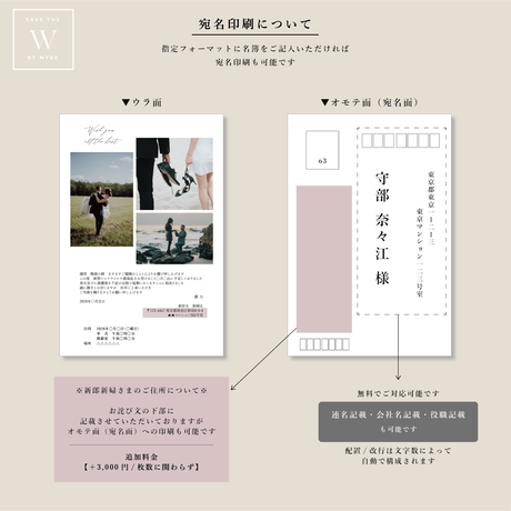 【W】お詫び状・お知らせはがき 40枚~ ( 宛名印刷無料 )
