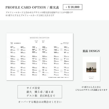 PROFILE CARD No.1 / 4 piece