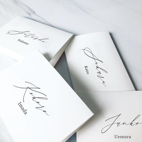 NAME CARD WHITE 08