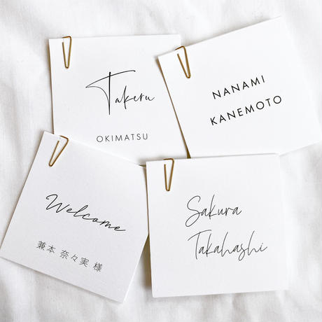 NAME CARD SQUARE A
