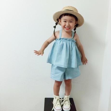 ❢❢SALE❢❢  韓国子供服 ✭デニム セットアップ✭