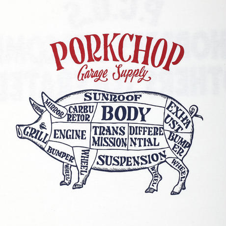 PORKCHOP - CHOPPERS WELCOME TEE (WHITE)
