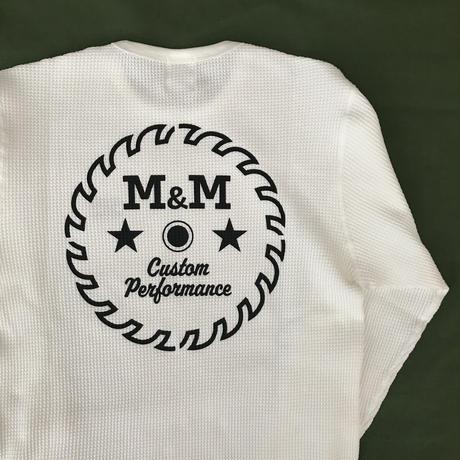 M&M - WAFFLE L/S T-SHIRT (WHITE)