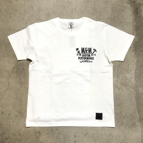 M&M - PRINT S/S TEE MT-017  (WHITE)