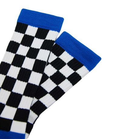 SURF SKATE CAMP - Checker Socks BLK
