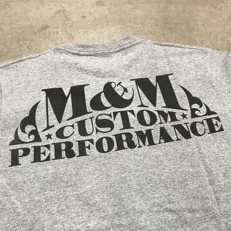 M&M - PRINT S/S TEE MT-020 (M.GRAY)