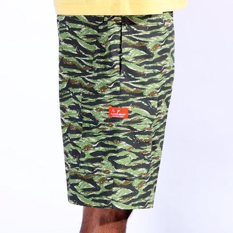COOKMAN - Chef Pants Short Cargo Ripstop Camo Green (Tiger)