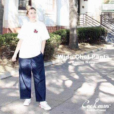 COOKMAN - ワイドシェフパンツ Wide Chef Pants Denim Navy