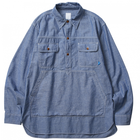 LIBERAIDERS - PULLOVER CHAMBRAY SHIRT (ワンウォッシュ)