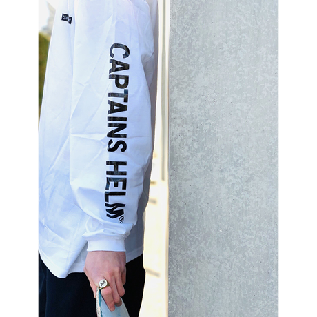 CAPTAINS HELM- TRADEMARK CITY L/S TEE (WHITE)
