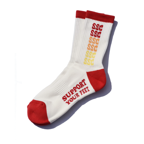SURF SKATE CAMP - Rainbow socks (Red)