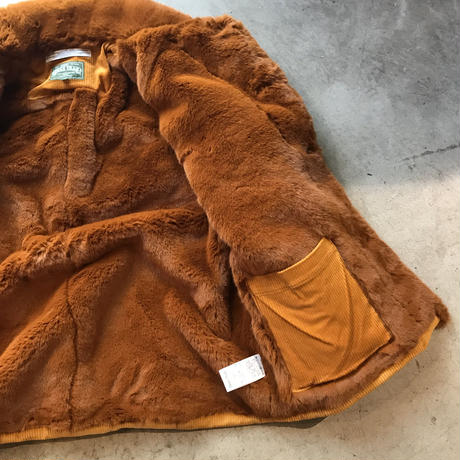 ChahChah - CORDUROY FUR COVERALL (ORANGE)