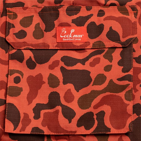 COOKMAN - Chef Cargo Pants 「Ripstop」 Duck Hunter Camo Red