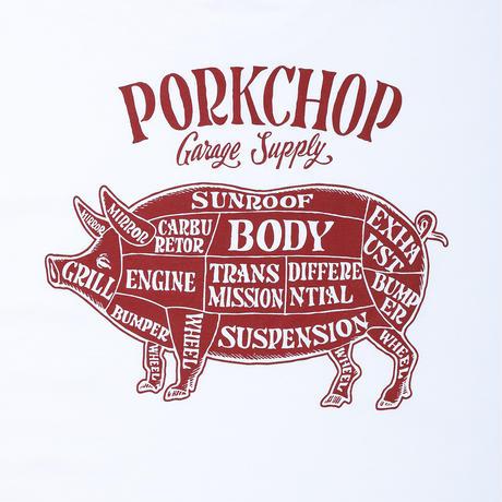 PORKCHOP - PORK BACK L/S TEE (WHITE)