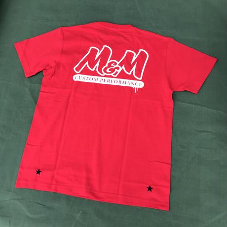 M&M - PRINT S/S T-SHIRT - 21-MT-013 (RED)