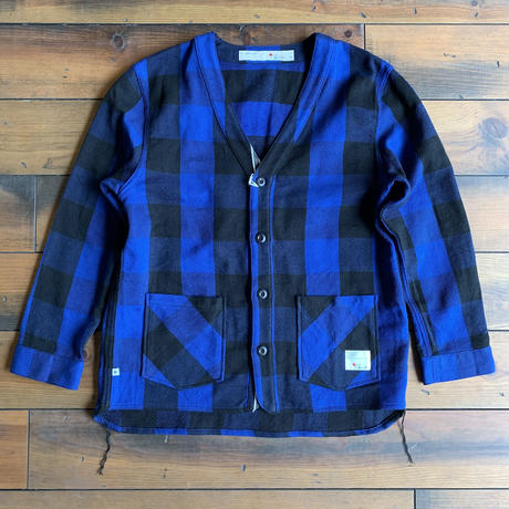 BLUE SAKURA - CLASSIC VINTAGE CHECK CARDIGAN / BS-CD02 【BLUE】