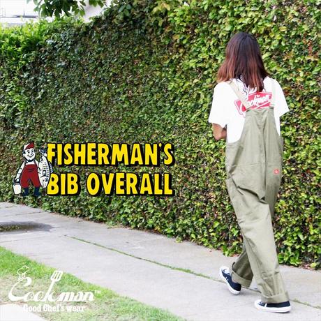 COOKMAN - Fisherman's Bib Overall 「Khaki」