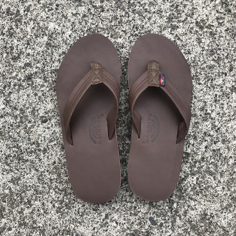 "RAINBOW SANDALS -Classic Leather ""Double Midsole"" (MOCH モカ)"