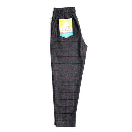 COOKMAN - Chef Pants 「Wool Mix Check」 Gray