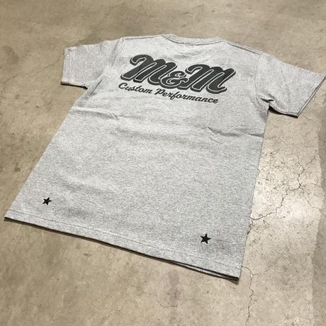 M&M - PRINT S/S TEE MT-022 (M.GRAY)