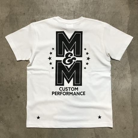 M&M - PRINT S/S TEE MT-023 (WHITE)