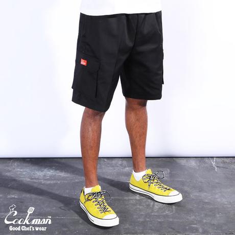 COOKMAN - Chef Pants Short Cargo Black