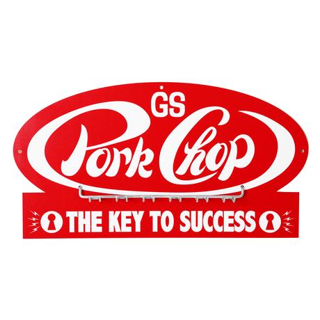 PORKCHOP - P-Key hook RED