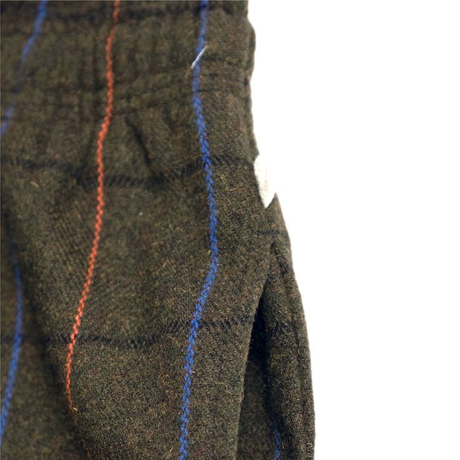COOKMAN - Chef Pants 「Wool Mix Check」 Olive Green