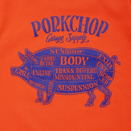 PORKCHOP -PORK FRONT TEE for Kids (オレンジ)