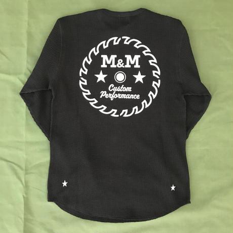 M&M - WAFFLE L/S T-SHIRT (BLACK)