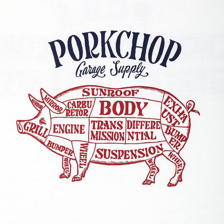 PORKCHOP - CHOPPERS WELCOME SWEAT (WHITE)