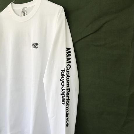 M&M - PRINT L/S TEE 20-MT-025 (WHITE)