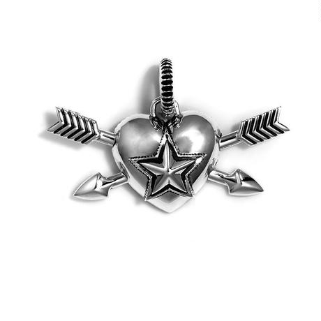 CODY SANDERSON - Pendant Heart & Sheriff Star Double Arrow